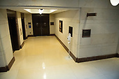 Hallway leading to the Office of Senate Security in the United States Capitol where it is rumored US Senators will be able to review the FBI report on their Kavanaugh investigation in Washington, DC on Wednesday, October 3, 2018.<br /> Credit: Ron Sachs / CNP<br /> (RESTRICTION: NO New York or New Jersey Newspapers or newspapers within a 75 mile radius of New York City)