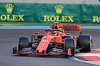 29th November 2019; Yas Marina Circuit, Abu Dhabi, United Arab Emirates; Formula 1 Abu Dhabi Grand Prix, practice day; Scuderia Ferrari, Charles Leclerc - Editorial Use