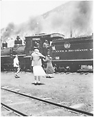 Last train - May 25, 1933.<br /> D&amp;RGW  Lake City, CO  5/25/1933