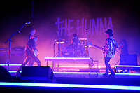 LONDON, ENGLAND - JANUARY 12: Dan Dorney, Ryan Potter, Jack Metcalfe and Jermaine Angin of 'The Hunna' performing at Brixton Academy on January 12, 2018 in London, England.<br /> CAP/MAR<br /> &copy;MAR/Capital Pictures