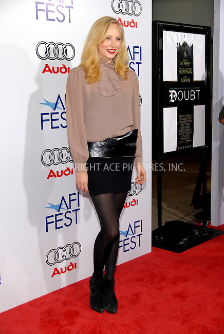 WWW.ACEPIXS.COM . . . . .  ....October 30, 2008. Los Angeles, CA....Actress Candice Accola attends AFI Fest's Premiere 'Doubt' held at ArcLight Hollywood on October 30, 2008 in Los Angeles, CA......Please byline: Joe West- ACEPIXS.COM.... *** ***..Ace Pictures, Inc:  ..Philip Vaughan (646) 769 0430..e-mail: info@acepixs.com..web: http://www.acepixs.com