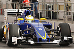 22.02.2016 Circuit Barcelona-Catalunya, Barcelona, Spain. Formula 1 test days. Picture show Marcus Ericsson driving Sauber C35