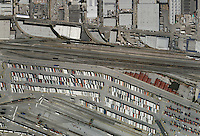 aerial photo map of BNSF Hobart Railyard, Los Angeles Intermodal Facility, Vernon, California