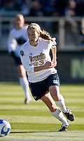 Notre Dame Fighting Irish defender Elise Weber (23). The North Carolina Tar Heels defeated the Notre Dame Fighting Irish 2-1 during the finals of the NCAA Women's College Cup at Wakemed Soccer Park in Cary, NC, on December 7, 2008. Photo by Howard C. Smith/isiphotos.com