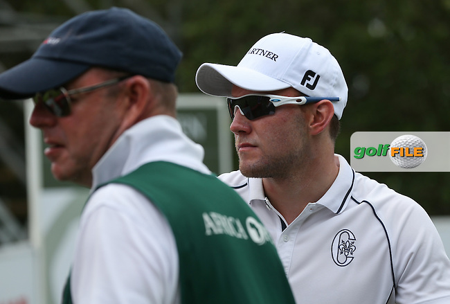 Maximilian  Kieffer (GER) watches the play during Round One of The Africa Open 2014 at the East London Golf Club, Eastern Cape, South Africa. Picture:  David Lloyd / www.golffile.ie