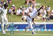 9th December 2017, Seddon Park, Hamilton, New Zealand; International Test Cricket, 2nd Test, Day 1, New Zealand versus West Indies;  Miguel Cummins bowling