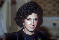 Norma Kitson, wife of David Kitson, a British trade unionist, who was imprisioned for 20 years for being an ANC, African National Congress, bomb making instructor. Taken at UK Labour Party annual conference, September, 1982. 198209000183<br /><br />Copyright Image from Victor Patterson, 54 Dorchester Park, <br />Belfast, UK, BT9 6RJ<br /><br />t1: +44 28 9066 1296 (from Rep of Ireland 048 9066 1296)<br />t2: +44 28 9002 2446 (from Rep of Ireland 048 9002 2446)<br />m: +44 7802 353836<br /><br />victorpatterson@me.com<br />www.victorpatterson.com<br /><br />Please see my Terms and Conditions of Use at VICTORPATTERSON.COM. It is IMPORTANT that you familiarise yourself with them.<br /><br />Images used on the Internet must be visibly watermarked i.e. &copy;VICTORPATTERSON.COM within the body of the image and copyright metadata must not be deleted. Images used on the Internet have a size restriction of 4kbs and are chargeable at the then current NUJ rates.<br /><br />This image is only available for the use of the download recipient i.e. television station, newspaper, magazine, book publisher, etc, and must not be passed on to any third party. It is also downloaded on condition that each and every usage is notified within 7 days to victorpatterson@me.com<br /><br />The right of Victor Patterson to be identified as the author is asserted in accordance with The Copyright Designs And Patents Act (1988).