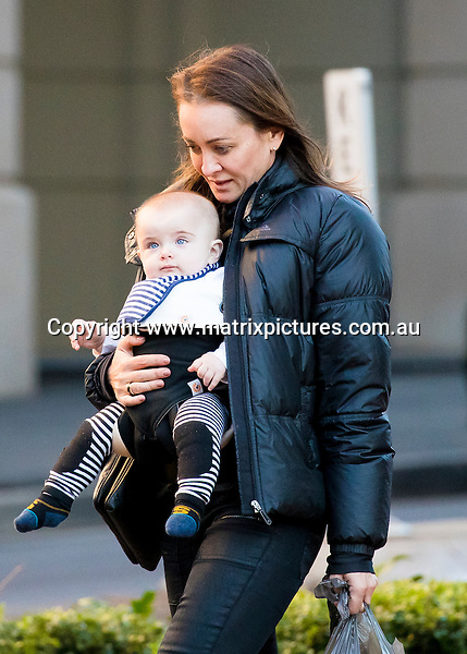 22 JUNE 2016 SYDNEY AUSTRALIA<br /> WWW.MATRIXPICTURES.COM.AU<br /> <br /> EXCLUSIVE PICTURES<br /> <br /> Michelle Bridges pictured carrying Axel in a chest harness as she stops off at Woolies for some groceries. <br /> <br /> *ALL WEB USE MUST BE CLEARED*<br /> <br /> Please contact prior to use:  <br /> <br /> +61 2 9211-1088 or email images@matrixmediagroup.com.au <br /> <br /> Note: All editorial images subject to the following: For editorial use only. Additional clearance required for commercial, wireless, internet or promotional use.Images may not be altered or modified. Matrix Media Group makes no representations or warranties regarding names, trademarks or logos appearing in the images.
