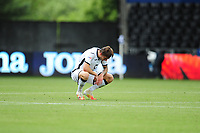 Ben Wilmot of Swansea City looks dejected at full time during the Sky Bet Championship match between Swansea City and Luton Town at the Liberty Stadium in Swansea, Wales, UK. Saturday 27 June 2020.