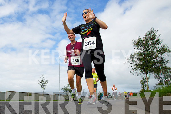 Pearse Enright and Mary Horgan pictured at the Rose of Tralee International 10k Race in Tralee on Sunday.