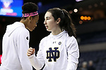 CHARLOTTESVILLE, VA - FEBRUARY 15: Notre Dame's Nicole Benz. The University of Virginia Cavaliers hosted the University of Notre Dame Fighting Irish on February 15, 2018 at John Paul Jones Arena in Charlottesville, VA in a Division I women's college basketball game. Notre Dame won the game 83-69.