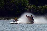 Frame 12: 40-M rides up the rooster tail of 20-M    (Outboard Hydroplane)