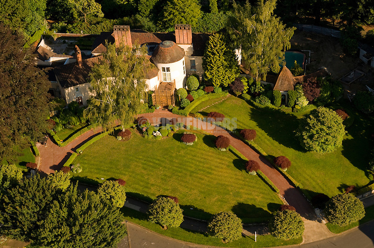 Aerial View of Bitar Mansion in the Laurelhurst Neighborhood, Portland, Oregon