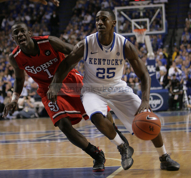 Freshman Guard Marquis Teague during the first half of UK's home game against St. John's at Rupp Arena in Lexington, Ky., Dec. 1, 2011. Photo by Brandon Goodwin