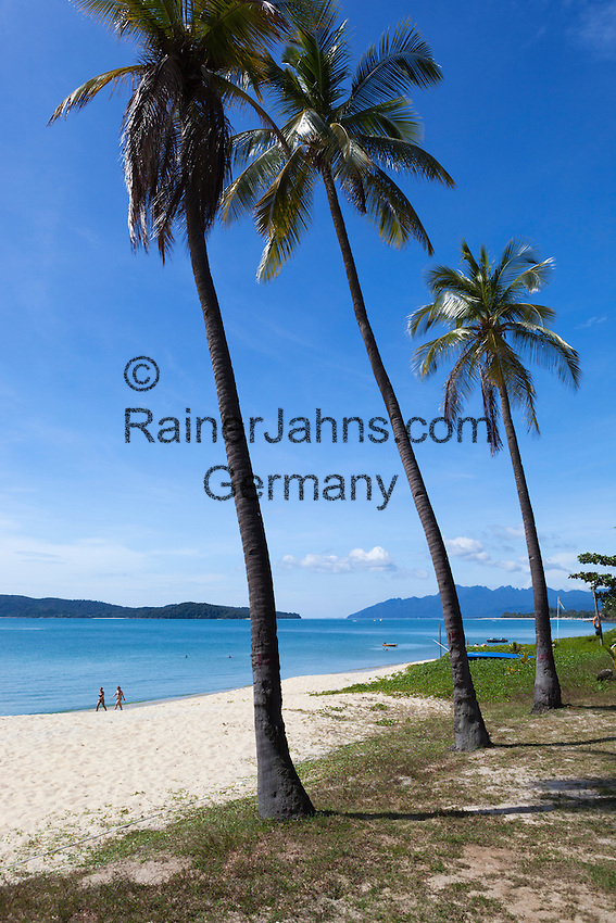 Malaysia, Pulau Langkawi, Pantai Tengah beach: Beach at the Frangipani Langkawi Resort and Spa   Malaysia, Pulau Langkawi, Pantai Tengah beach: Strand beim Frangipani Langkawi Resort and Spa