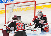 Carpenter goal overturned on review due to offsides. Megan Keller (BC - 4), Paige Savage (NU - 28), Brittany Bugalski (NU - 39) - The Boston College Eagles defeated the Northeastern University Huskies 5-1 (EN) in their NCAA Quarterfinal on Saturday, March 12, 2016, at Kelley Rink in Conte Forum in Boston, Massachusetts.