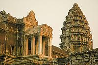 Detail of the first enclosing wall at Angkor Wat, Siem Reap province, Cambodia.