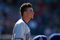 Willy Adames (27) of the Durham Bulls watches the action from the dugout during the game against the Lehigh Valley Iron Pigs at Coca-Cola Park on July 30, 2017 in Allentown, Pennsylvania.  The Bulls defeated the IronPigs 8-2.  (Brian Westerholt/Four Seam Images)