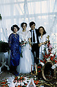 Iran 1986  A Kurdish wedding in Tehran: from left to right, Parwin, Nileofar and Farouk,the couple and Nina  <br /> Iran 1986 A Teheran, un mariage kurde