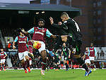 West Ham's Alex Song tussles with Stoke's Marco Van Ginkel<br /> <br /> Barclays Premier League - West Ham United v Stoke City - Upton Park - England -12th December 2015 - Picture David Klein/Sportimage