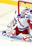 23 January 2010: New York Rangers' goaltender Henrik Lundqvist makes a second period save against the Montreal Canadiens at the Bell Centre in Montreal, Quebec, Canada. The Canadiens shut out the Rangers 6-0. Mandatory Credit: Ed Wolfstein Photo