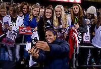 Sydney Leroux, fans. The USWNT tied New Zealand, 1-1, at an international friendly at Crew Stadium in Columbus, OH.