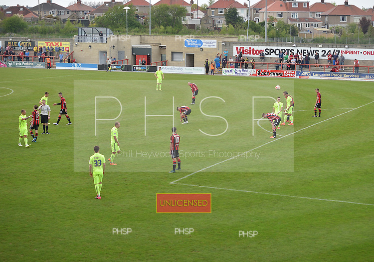 07/05/2016 Sky Bet League Two Morecambe v York City<br /> Final whistle blows on York City's Football League status