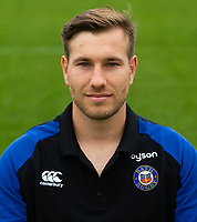 Rowan O'Brien of Bath Rugby poses for a portrait. Bath Rugby Media Day on August 14, 2018 at Farleigh House in Bath, England. Photo by: Patrick Khachfe / Onside Images