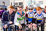 Tom O'Connor, tom Moriarty, Jack guerin and Ciaran Collins at the final the stage of Ras Mumhan in Killorglin on Monday