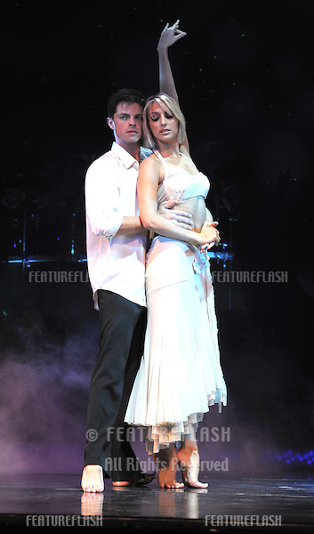 Ali Bastian and Brian Fortuna join the cast of 'Burn The Floor' at a photocall to promote the new west end show. Shaftesbury Theatre, London. 23/07/2010  Picture by: Simon Burchell / Featureflash