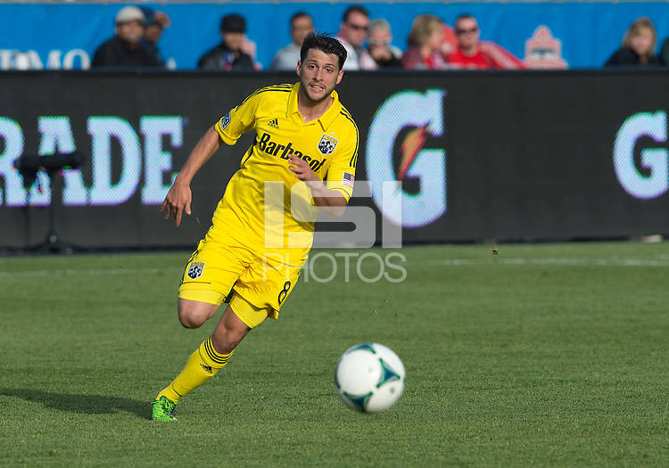 18 May 2013: Columbus Crew midfielder Matias Sanchez #8 in action during an MLS game between the Columbus Crew and Toronto FC at BMO Field in Toronto, Ontario Canada..The Columbus Crew won 1-0...