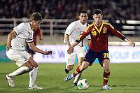 Spain's Alvaro Vazquez and Norway's Rogne (l) Elabdellaoui during an International sub21 match. March 21, 2013.(ALTERPHOTOS/Alconada) /NortePhoto