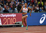 Shannon HYLTON (GBR) in the womens 200m heats. IAAF world athletics championships. London Olympic stadium. Queen Elizabeth Olympic park. Stratford. London. UK. 08/08/2017. ~ MANDATORY CREDIT Garry Bowden/SIPPA - NO UNAUTHORISED USE - +44 7837 394578