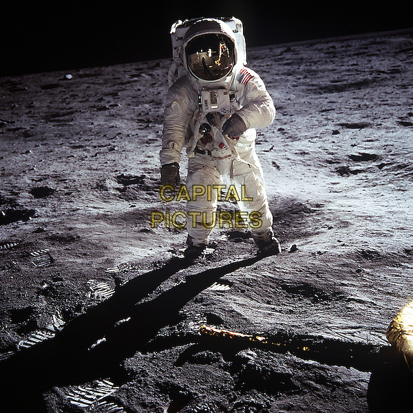 Buzz Aldrin on the Moon.space universe galaxy gv general view flag landing walk walking spacesuit full length.*Editorial Use Only*.CAP/NASA/PLF.Supplied by PLF/NASA/Capital Pictures