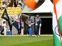 India's opening batsmen Sachin Tendulkar and Virender Sehwag walk onto the pitch during the 2nd ODI cricket match between the New Zealand Black Caps and India at Westpac Stadium, Wellington, New Zealand on Friday, 6 March 2009. Photo: Dave Lintott / lintottphoto.co.nz