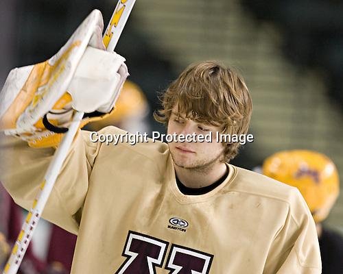 Jeff Frazee - The University of Minnesota Golden Gophers took part in their morning skate at Ralph Engelstad Arena in Grand Forks, North Dakota, on Saturday, December 10, 2005.