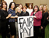 Women from the original Dagenham equal pay strike and Stars from cast of hit musical 'Made in Dagenham' at House of Commons for Pay Transparency vote<br /> <br /> 16th December 2014 <br /> outside Parliament <br /> <br /> Parliament will next week vote on the implementation of section 78 of the Equality Act (2010) to require large companies to publish their pay gap. <br /> <br /> <br /> MP's with cast of made in Dagenham and <br /> Gloria De Piero MP<br /> Gemma Arterton <br /> <br /> <br /> <br /> <br /> Photograph by Elliott Franks <br /> Image licensed to Elliott Franks Photography Services