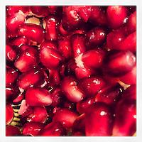 Pomegranate arils sit ready to eat on February 27, 2013.