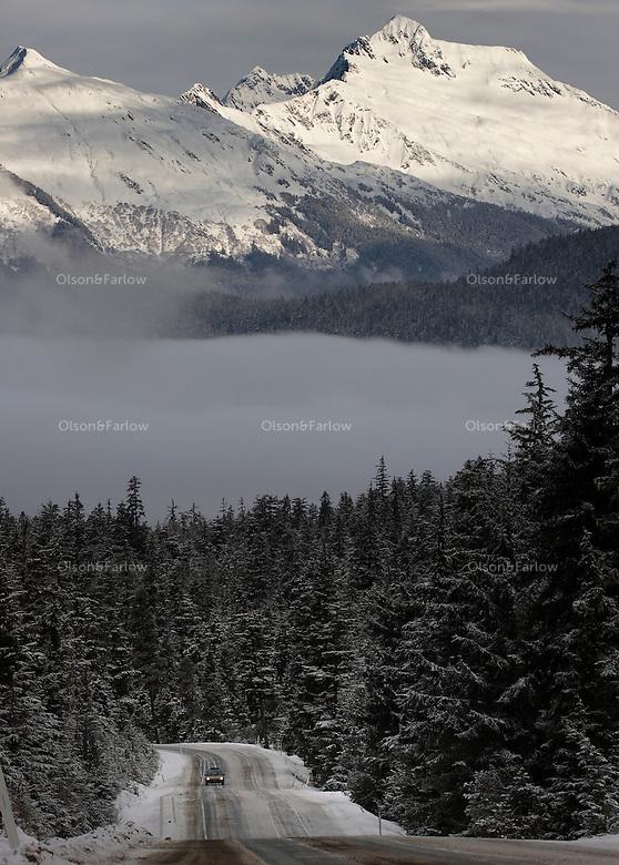 View from Eaglecrest Ski Area looking toward Juneau.