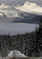 View from Eaglecrest Ski Area looking toward Juneau.