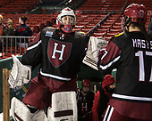 Molly Tissenbaum (Harvard - 35), Briana Mastel (Harvard - 17) - The Boston College Eagles defeated the Harvard University Crimson 3-1 on Tuesday, January 10, 2017, at Fenway Park in Boston, Massachusetts.The Boston College Eagles defeated the Harvard University Crimson 3-1 on Tuesday, January 10, 2017, at Fenway Park.
