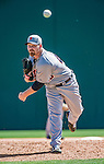 16 March 2014: Detroit Tigers pitcher Phil Coke on the mound during a Spring Training Game against the Washington Nationals at Space Coast Stadium in Viera, Florida. The Tigers edged out the Nationals 2-1 in Grapefruit League play. Mandatory Credit: Ed Wolfstein Photo *** RAW (NEF) Image File Available ***