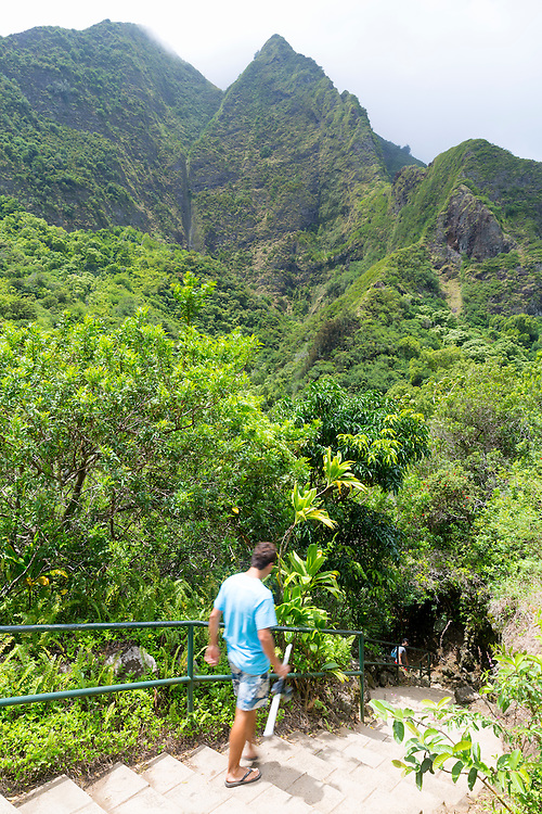 The Iao Valley State Park on the island of Maui, Hawaii