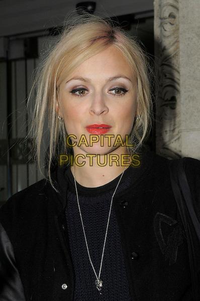 Fearne Cotton leaving the studios of BBC Radio 1, London, England..January 18th, 2012.headshot portrait black red lipstick necklace .CAP/IA.©Ian Allis/Capital Pictures.