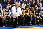 22 November 2015: Army head coach Dave Magarity. The Duke University Blue Devils hosted the United States Military Academy at West Point Army Black Knights at Cameron Indoor Stadium in Durham, North Carolina in a 2015-16 NCAA Women's Basketball Exhibition game. Duke won the game 72-61.