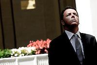 Roma, 13 Luglio 2016.<br /> Il presidente del Consiglio Matteo Renzi ha ricevuto a Palazzo Chigi, il primo ministro della Nuova Zelanda John Key.