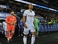 Bolton Wanderers' Karl Henry leads the team out<br /> <br /> Photographer Kevin Barnes/CameraSport<br /> <br /> The EFL Sky Bet Championship - Cardiff City v Bolton Wanderers - Tuesday 13th February 2018 - Cardiff City Stadium - Cardiff<br /> <br /> World Copyright &copy; 2018 CameraSport. All rights reserved. 43 Linden Ave. Countesthorpe. Leicester. England. LE8 5PG - Tel: +44 (0) 116 277 4147 - admin@camerasport.com - www.camerasport.com