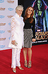HOLLYWOOD, CA- JULY 21: Actress Glenn Close (L) and daughter Annie Maude Starke arrive at the Los Angeles premiere of Marvel's 'Guardians Of The Galaxy' at the El Capitan Theatre on July 21, 2014 in Hollywood, California.