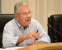 Allen R. Fidler III, planning commission chairman, addresses a group of concerned citizens about fracking at Newtown Township Building Tuesday July 7, 2015 in Newtown, Pennsylvania. (Photo by William Thomas Cain)