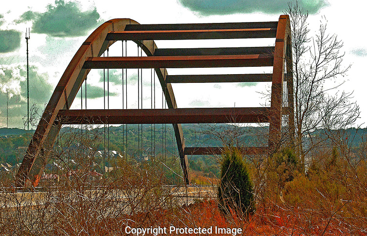 Pennybacker Bridge over Lake Austin. Austin TX